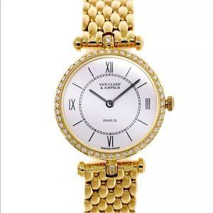 VCA Van Cleef Arpels Diamond 18KT Gold Women Watch